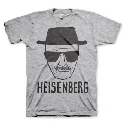 Breaking Bad Heisenberg Sketch T-Shirt Grå