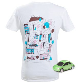 CarTrackZzz T-Shirt med Bilbana stl XL
