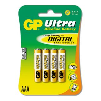 GP Ultra Batterier - 4-pack AAA