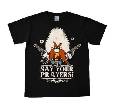 Looney Tunes Say Your Prayers T-Shirt Slim Fit Svart