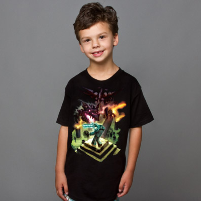 Minecraft Enderdragon Barn T-Shirt