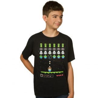 Minecraft Invaders Barn T-shirt