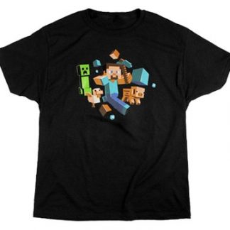 Minecraft Run Away! Glow in the Dark T-shirt Barn