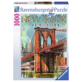 Ravensburger pussel: Retro New York - 1000 bitar