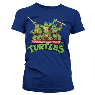 TMNT - Distressed Group Girly T-Shirt Mörkblå