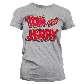 Tom & Jerry Logo Dam T-shirt