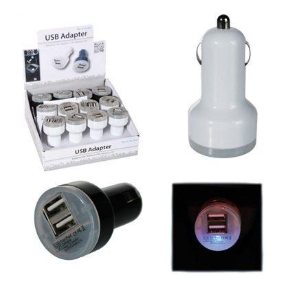 USB-Laddare för Bilen med LED