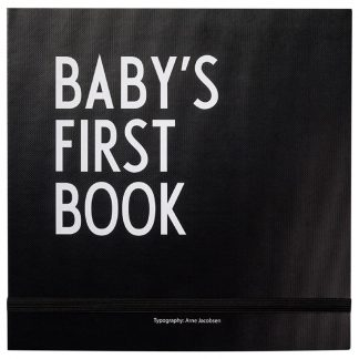 Design LettersBaby's first book Svart