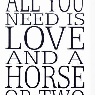 Skylt All you need is a horse...