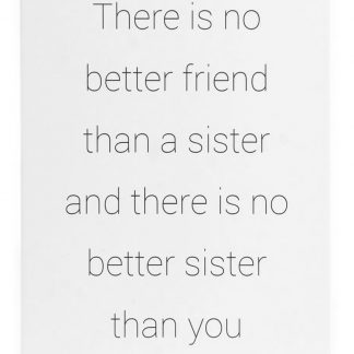 """Skylt """"Sisters are best friends"""""""