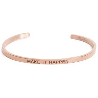 Armband med budskap - Cuff, Rosé, Make It Happen