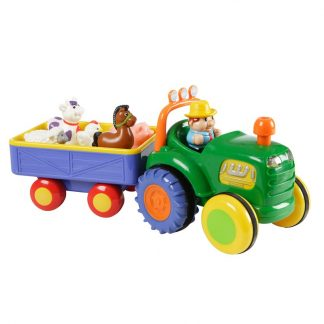 KiddielandHappy Baby Farm Tractor with Trailer