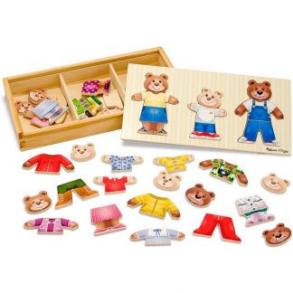 Melissa & DougPuzzle, Wooden Bear Family Dress-Up