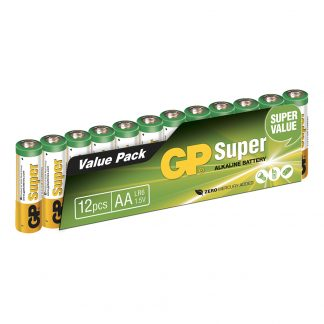 GP Super Alkaline Batterier - 12-pack AA