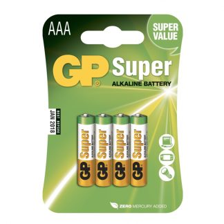 GP Super Alkaline Batterier - 4-pack AAA