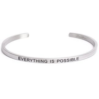 Armband med budskap - Cuff, Silver, Everything is Possible