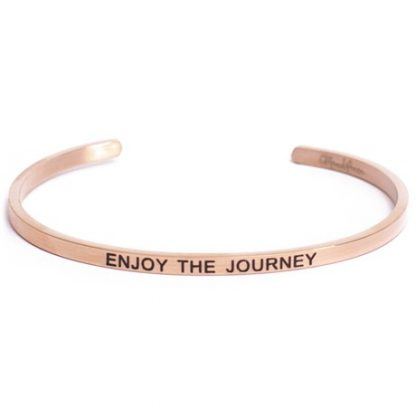 Armband med budskap - Cuff, Rosé, Enjoy the Journey
