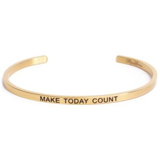 Armband med budskap - Cuff, Guld, Make Today Count