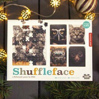 Shuffleface - Roligt djurpussel med flera lösningar, Brun