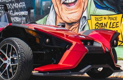Airfield Speedtest med Polaris Slingshot