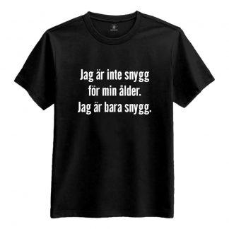 Jag Är Inte Snygg Dam T-shirt - X-Large